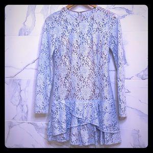 BCBGMaxazria Crystal Blue Lace Dress